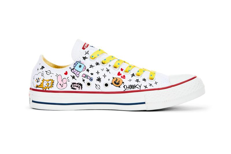 converse chuck taylor all star hi ox line friends bts bt21 collaboration