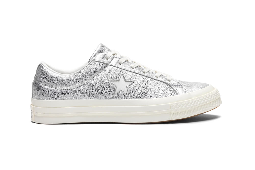 Converse Heavy Metallic One Star Silver