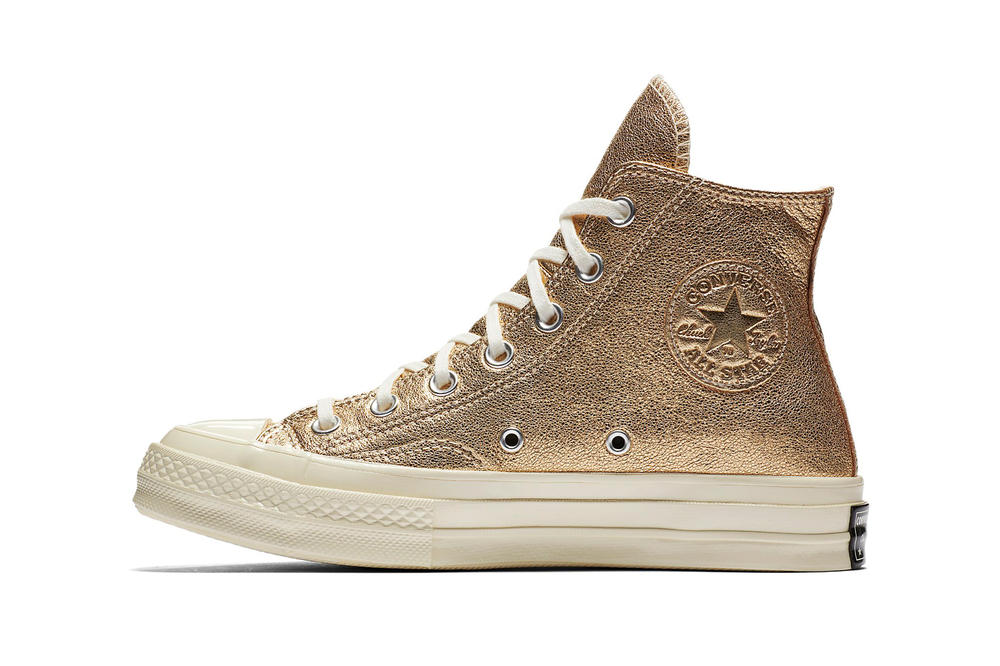 Converse Heavy Metallic Chuck 70 One Star Gold