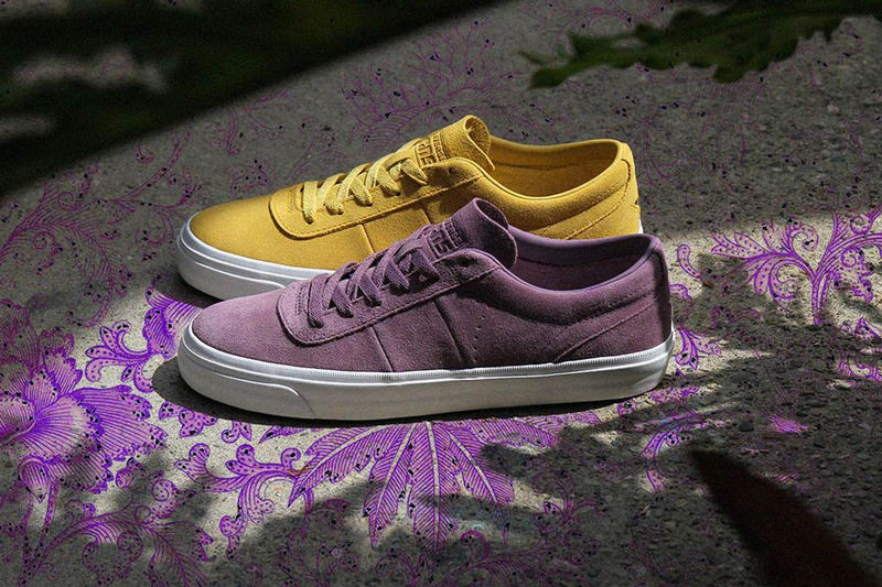 converse one star cc pro ox suede purple yellow new logo redesign
