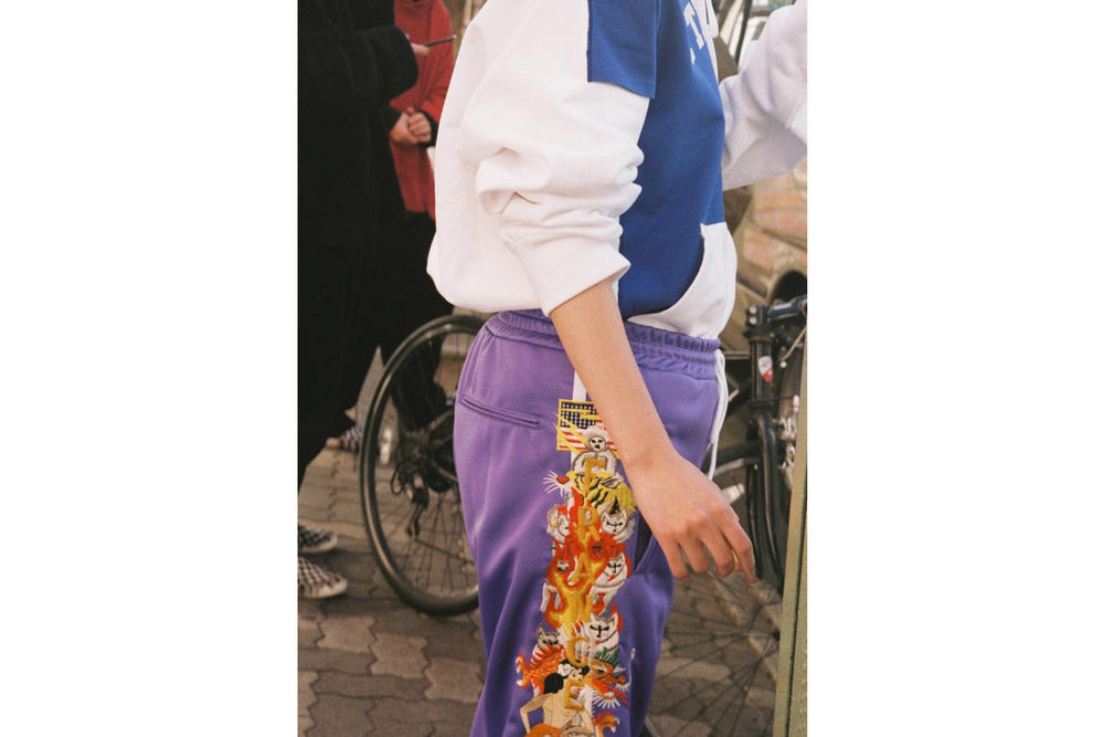 doublet Fall/Winter 2018 Lookbook Chaos Embroidery Track Pants Purple
