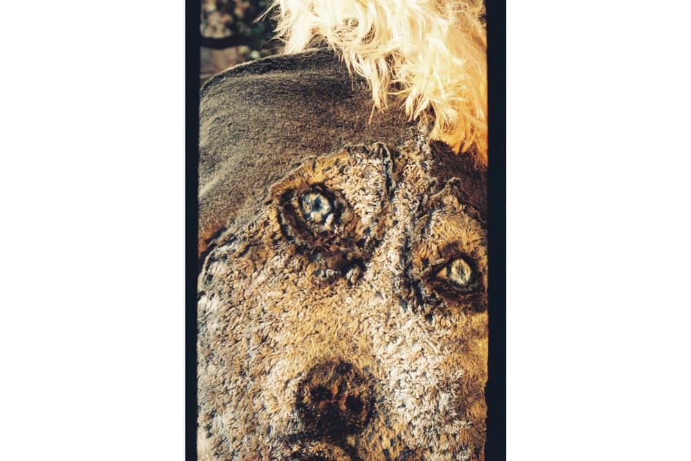 doublet Fall/Winter 2018 Lookbook Dog Print Fur Coat Brown Tan