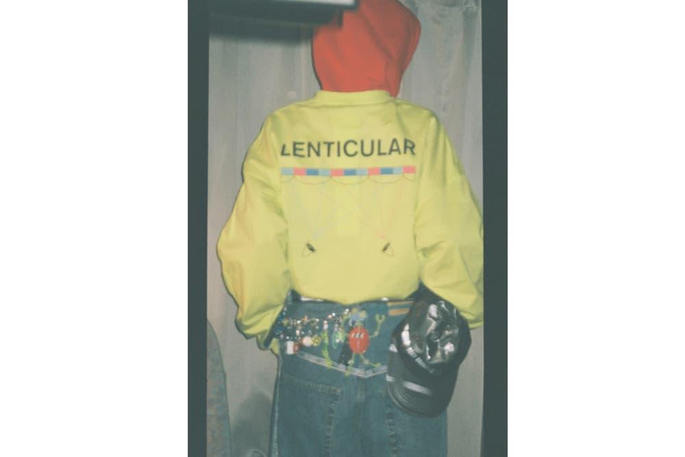 doublet Fall/Winter 2018 Lookbook No Lenticular Hoodie Light Green