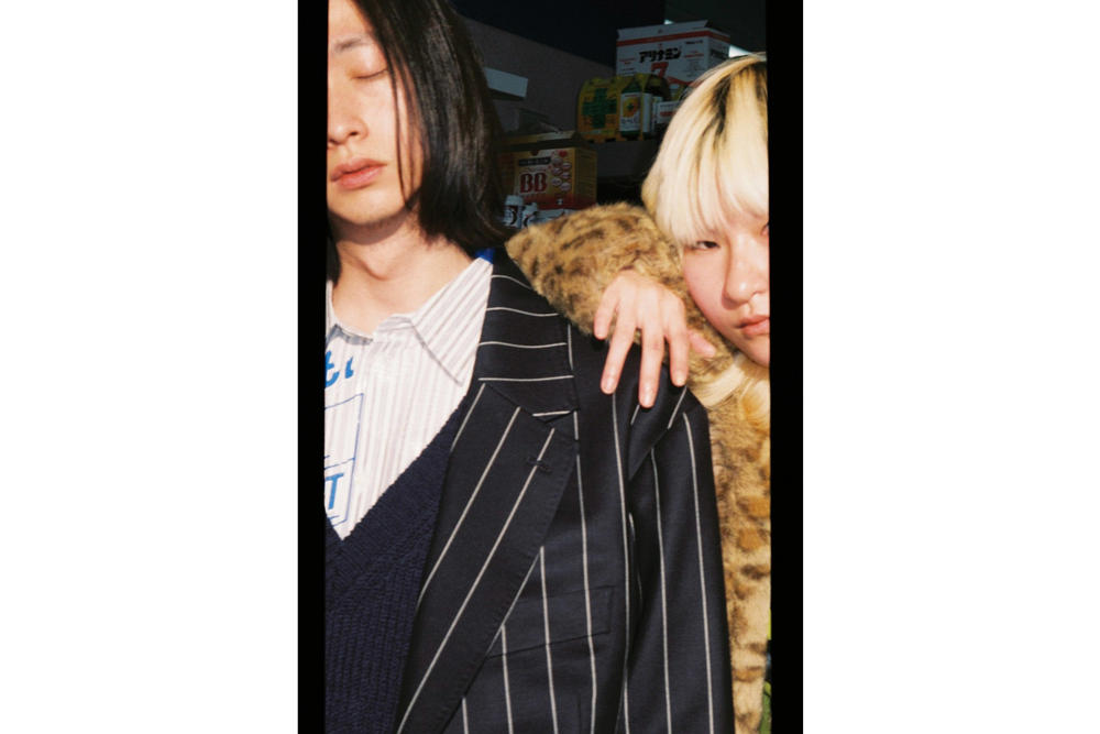 doublet Fall/Winter 2018 Lookbook Large Striped Blazer Black White