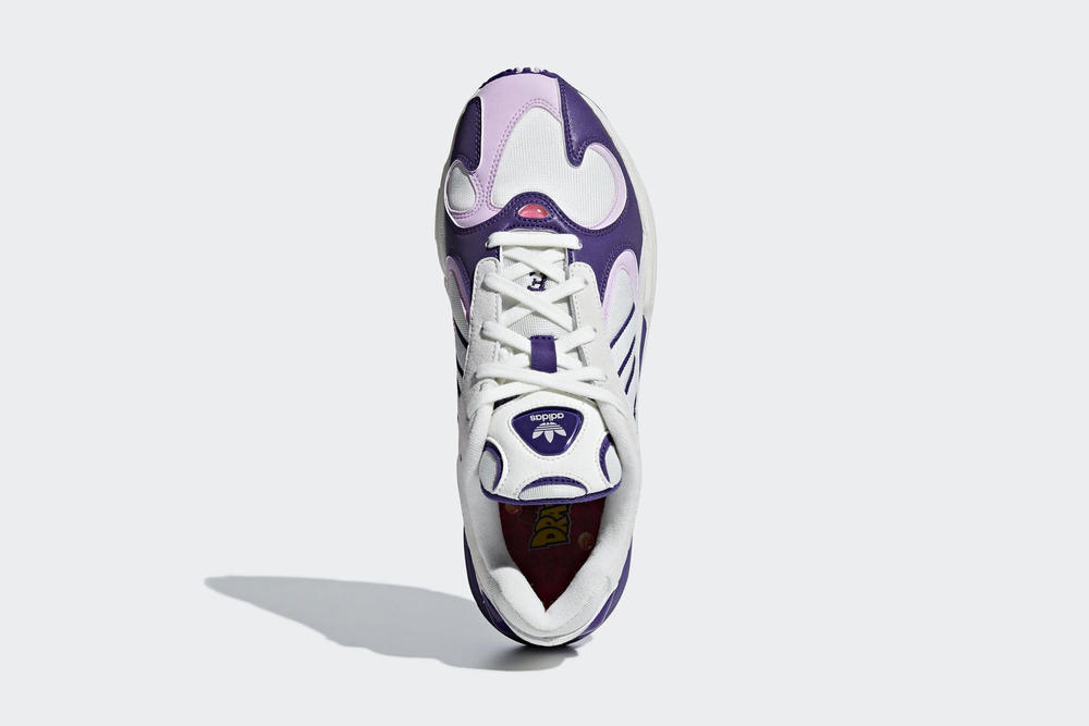 dragon ball z adidas collab yung 1 frieza purple white zx500 rum young goku