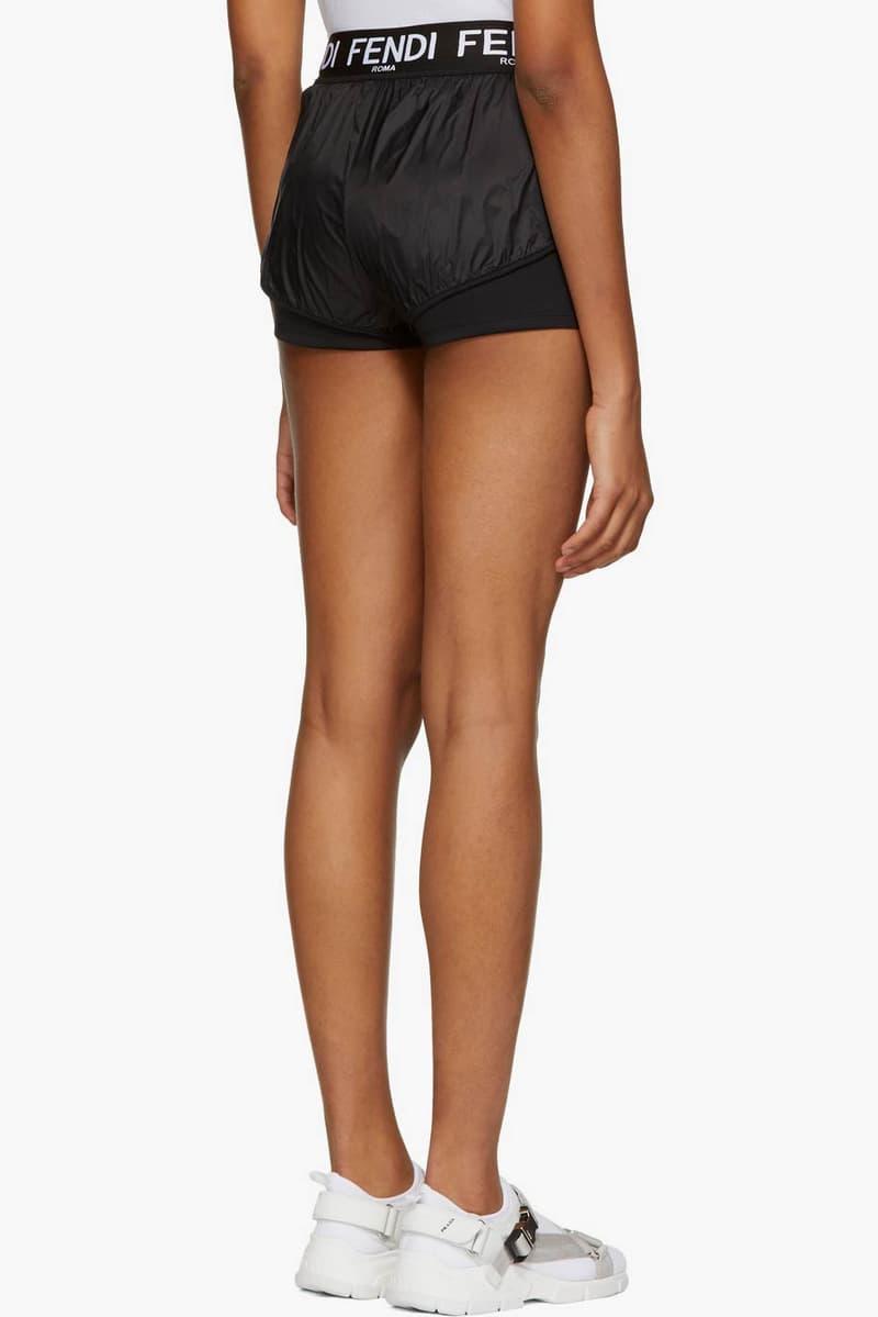 Fendi Nylon Sporty Shorts Black