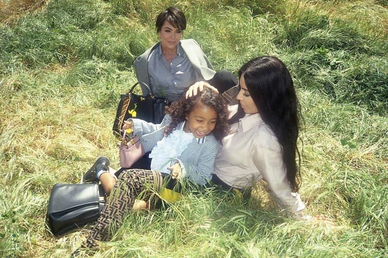 Fendi Peekaboo Campaign North West Kim Kardashian Kris Jenner
