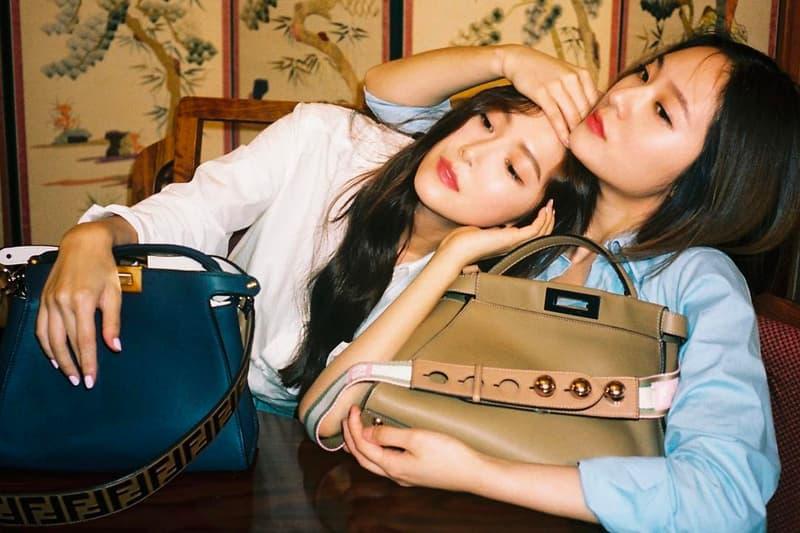 Jessica Krystal Jung K-pop Sisters F(x) Girls Generation Fendi Peekaboo Campaign Handbag Bag