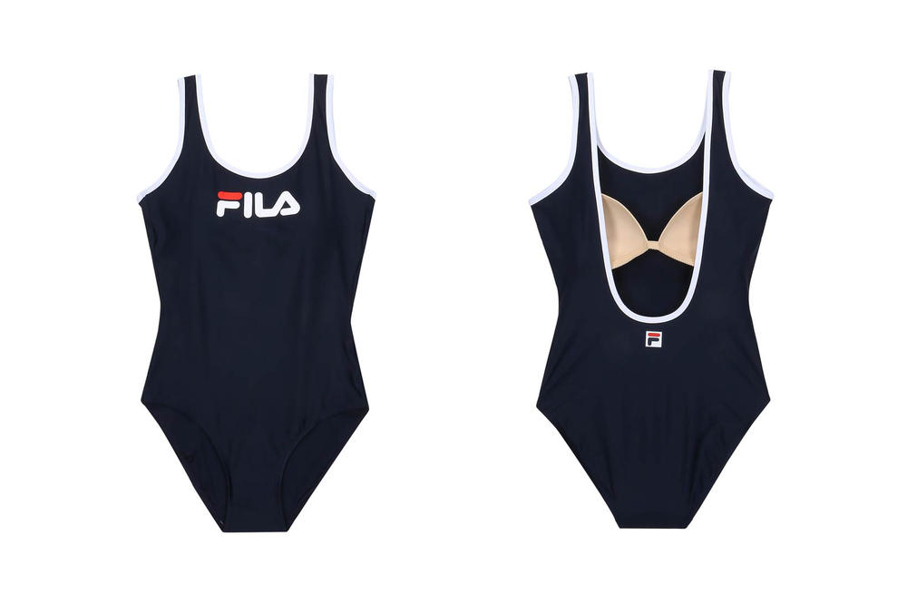 FILA Korea Logo Swimsuit Blue
