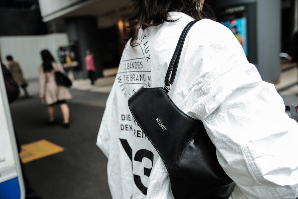 Y-3 Jacket White Helmut Lang Bra Bag Black
