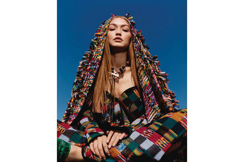 Gigi Hadid Missoni Fall/Winter 2018 Campaign Harley Weir Dress Sweater