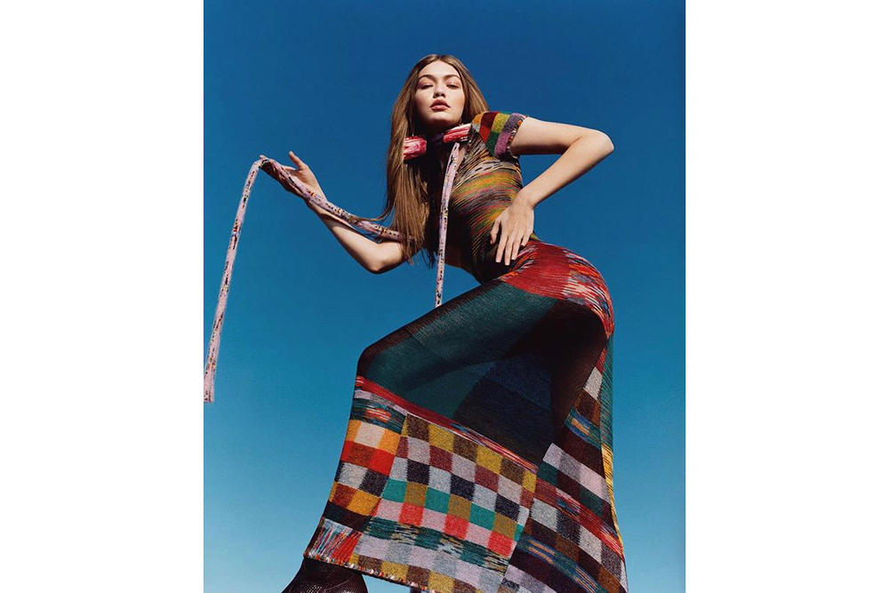 Gigi Hadid Missoni Fall/Winter 2018 Campaign Harley Weir Dress
