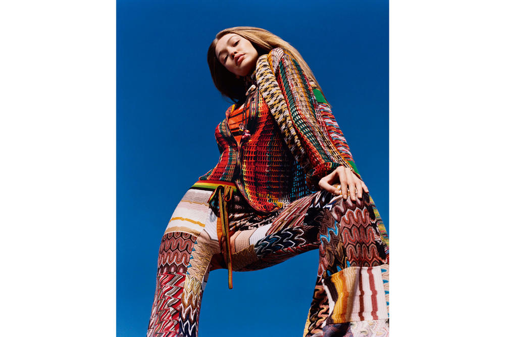 Gigi Hadid Missoni Fall/Winter 2018 Campaign Harley Weir Pants Sweater