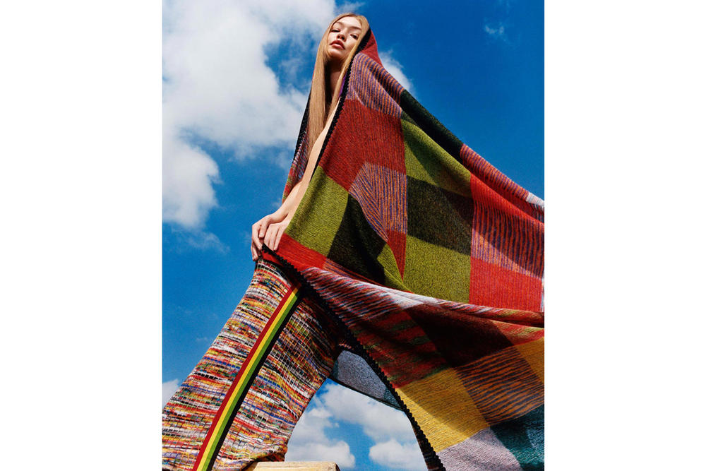 Gigi Hadid Missoni Fall/Winter 2018 Campaign Harley Weir Pants Scarf