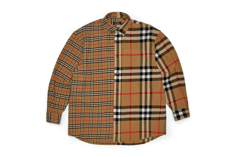 gosha rubchinskiy fall winter 2018 burberry check plaid shirt