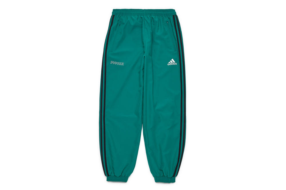 gosha rubchinskiy fall winter 2018 green adidas pants