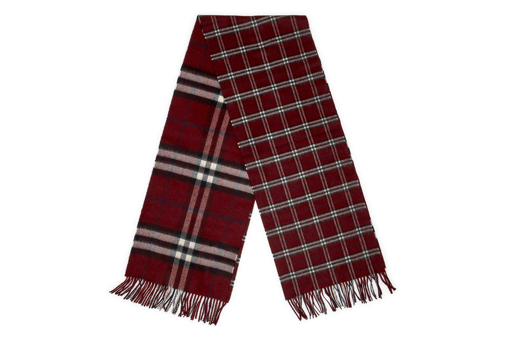 gosha rubchinskiy fall winter 2018 scarf burberry check plaid
