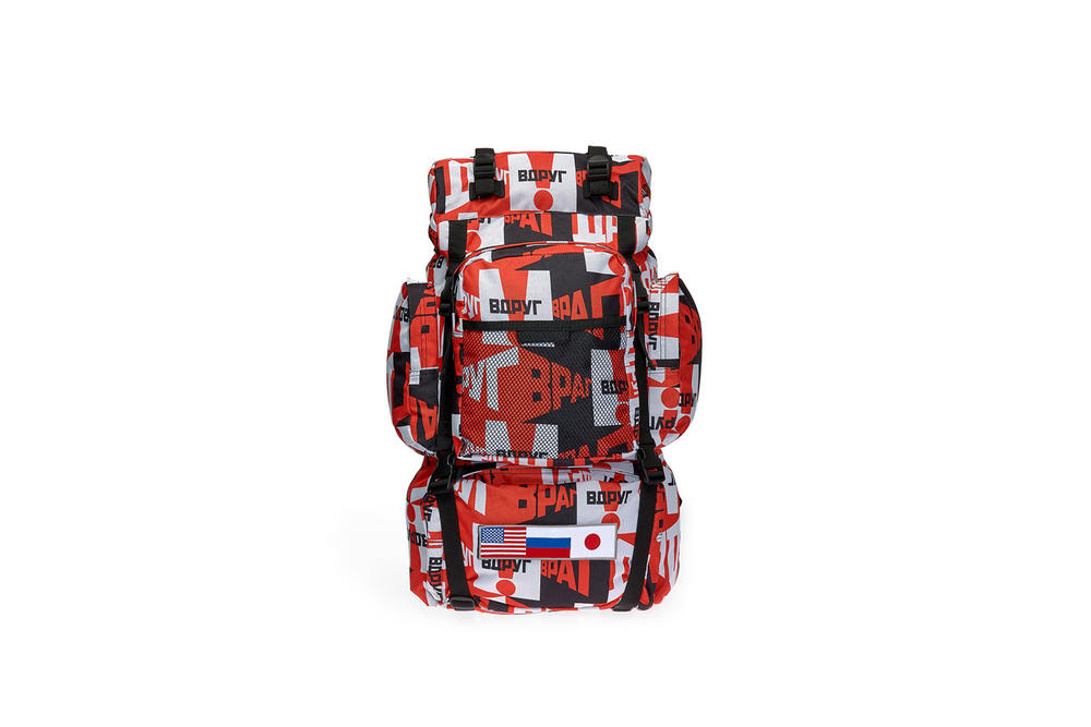 gosha rubchinskiy fall winter 2018 backpack red