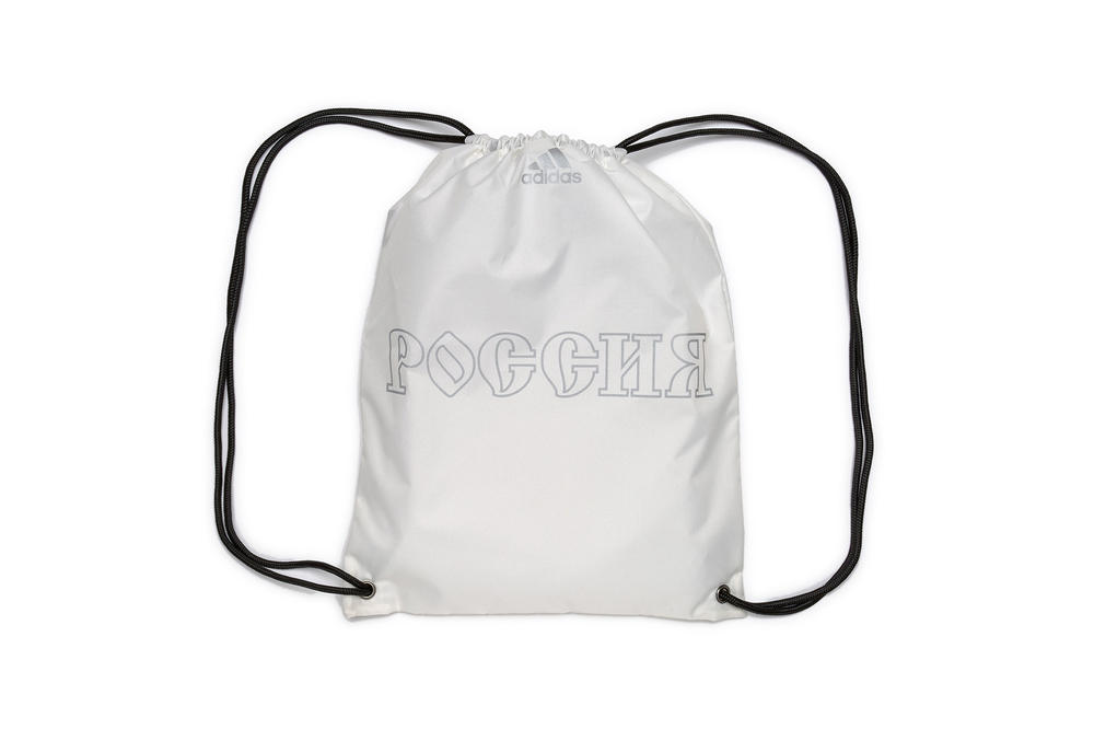 gosha rubchinskiy fall winter 2018 drawstring backpack white