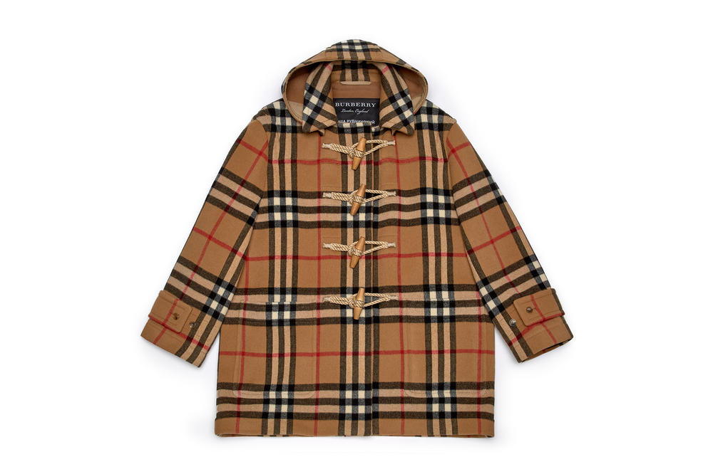 gosha rubchinskiy fall winter 2018 burberry check jacket collaboration
