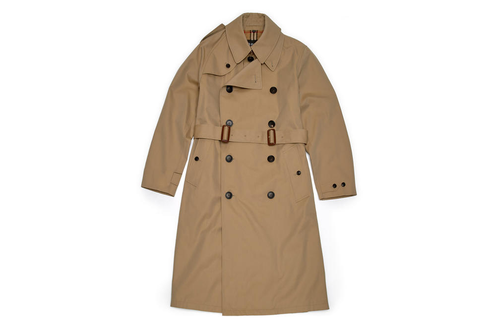 gosha rubchinskiy fall winter 2018 burberry trench coat
