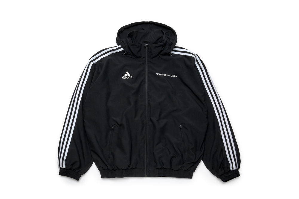 gosha rubchinskiy fall winter 2018 adidas jacket black