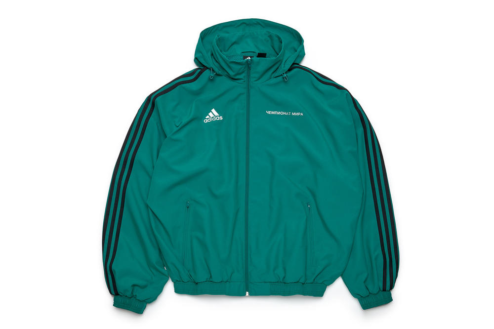 gosha rubchinskiy fall winter 2018 adidas jacket green