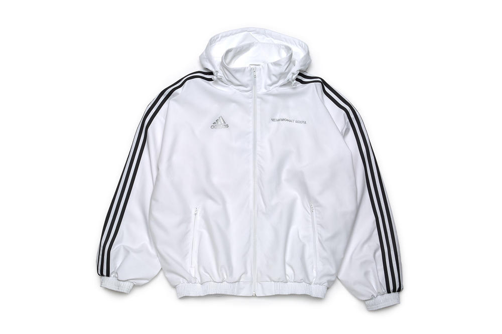 gosha rubchinskiy fall winter 2018 adidas jacket white