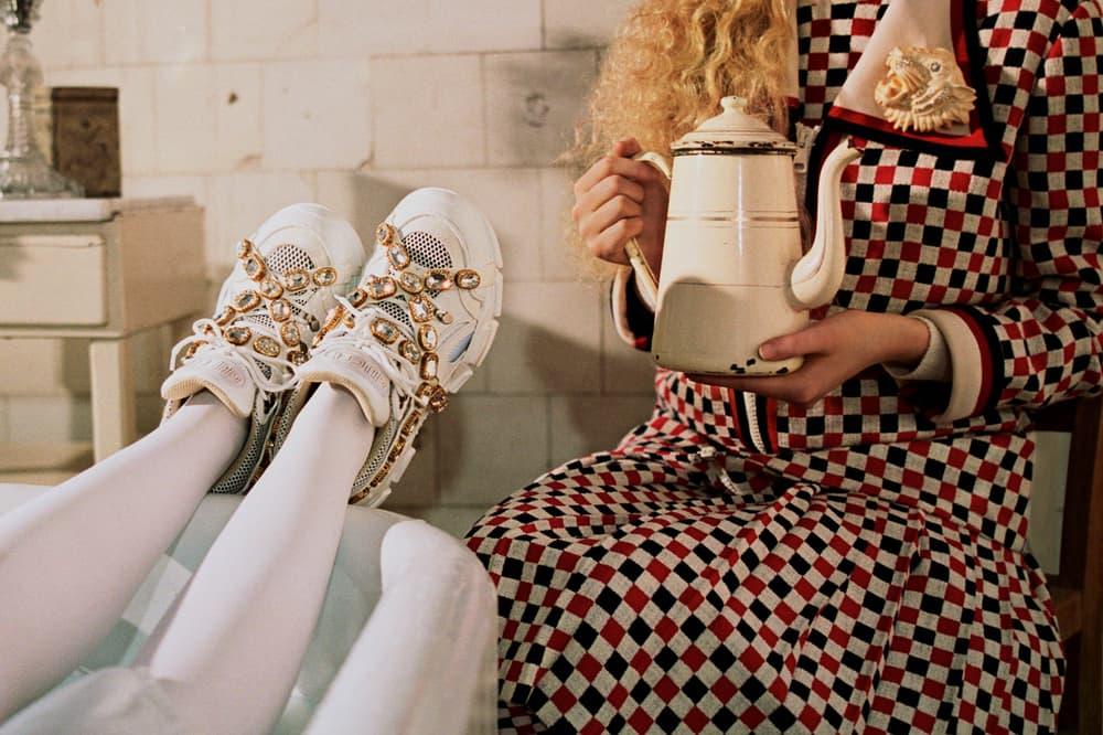 Gucci Fall/Winter 2018 Collectors Campaign SEGA Sneakers White