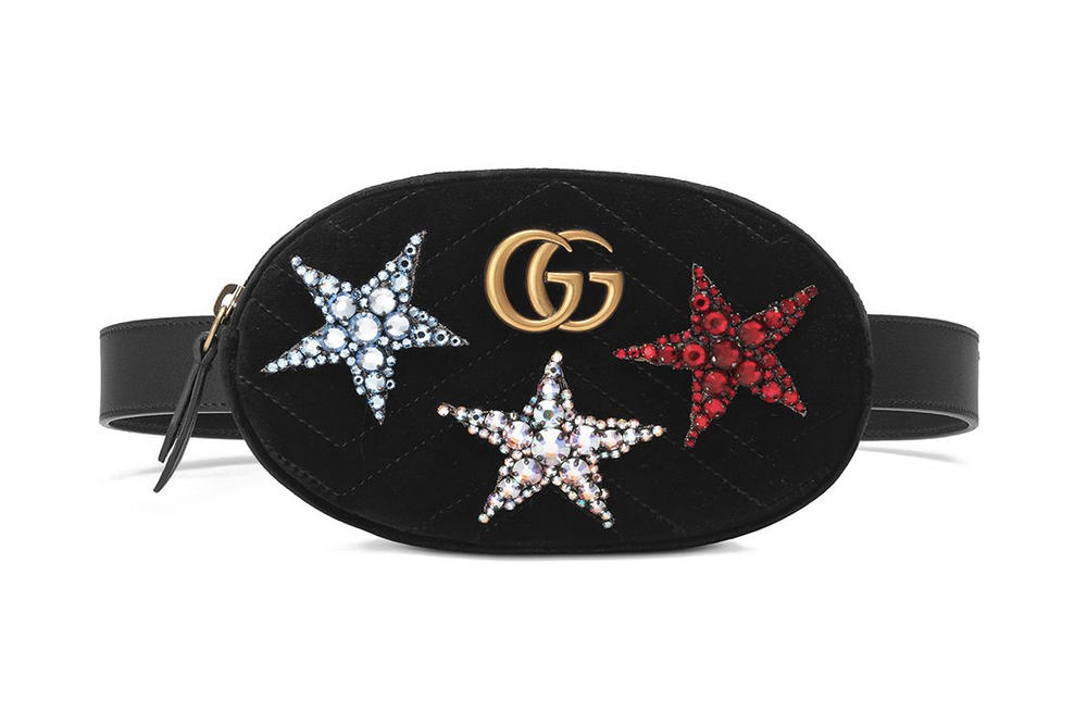 496f28d8b Gucci GG Marmont Belt Bag with Crystal Stars | HYPEBAE