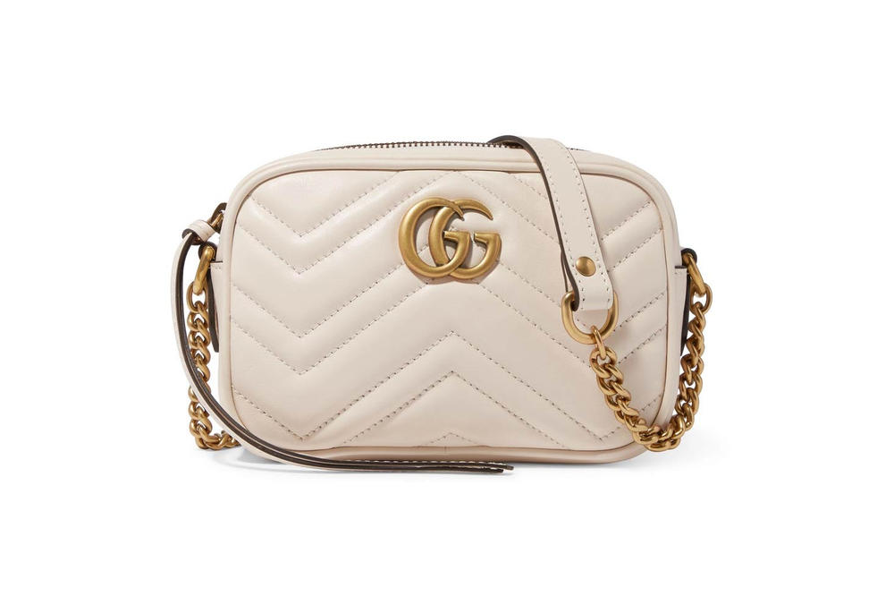 23a275a09 Gucci's Marmont Mini Camera Bag in Black | HYPEBAE