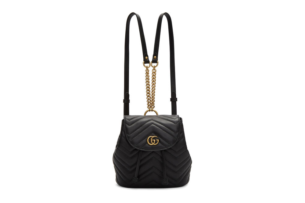 28c22d9ff98 Gucci Marmont 2.0 Backpack in Black and Red Gold Hardware Logo GG Luxury  Accessory Leather