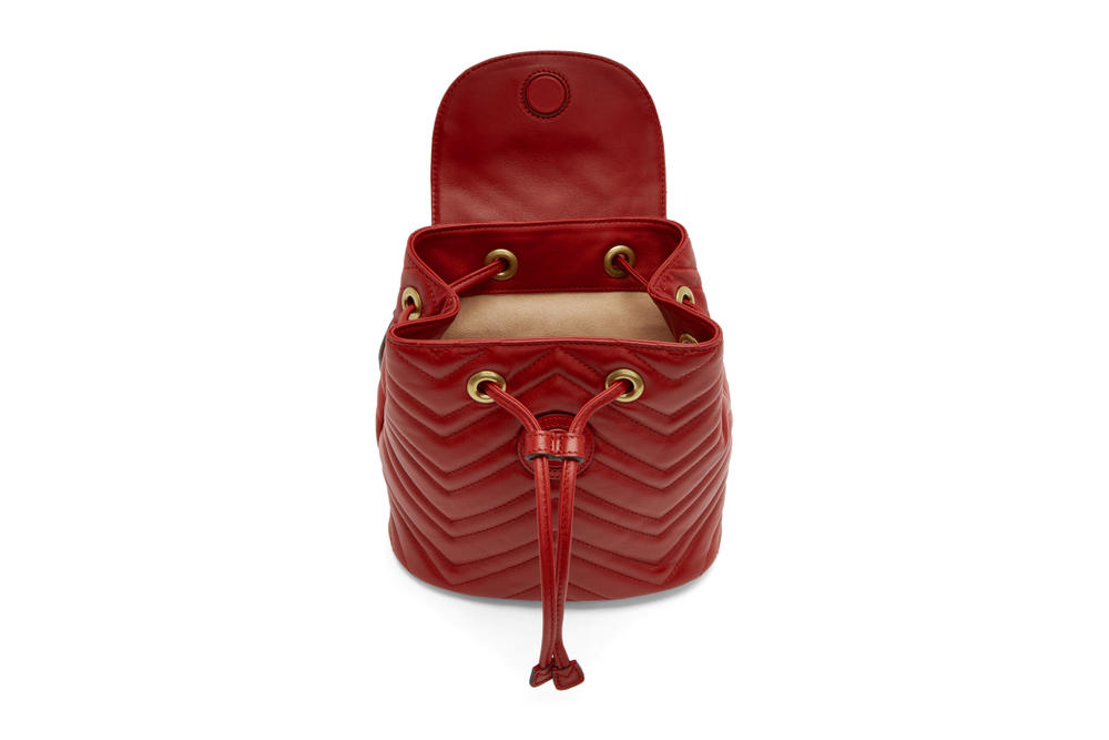 3c8706a7 Gucci Marmont 2.0 Backpack in Black and Red | HYPEBAE