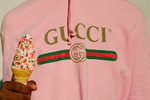 Picture of Gucci's Baby Pink Vintage Logo Hoodie Is a Summer Delight
