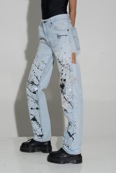 HAI SWIM Fall/Winter 2018 TIME SERIES Collection Painted Jeans Blue