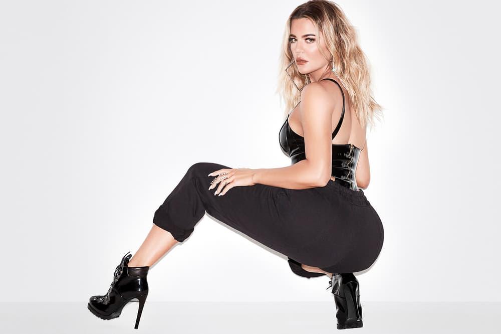 Khloe Kardashian Good American Sweatpants Black