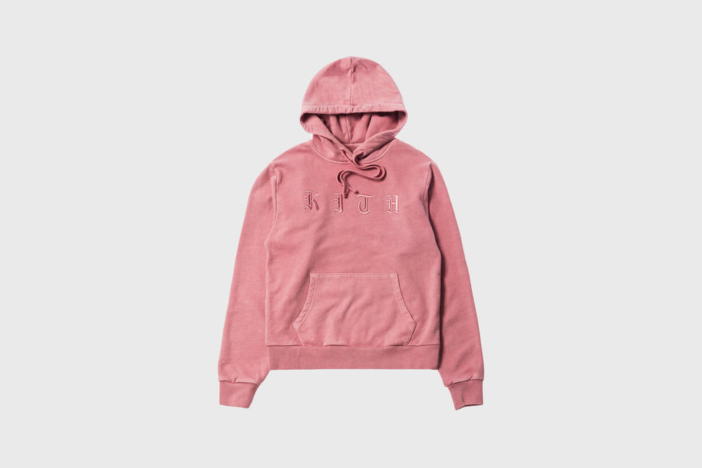 KITH Women Summer 2018 Collection Serena Hoodie Dusty Rose