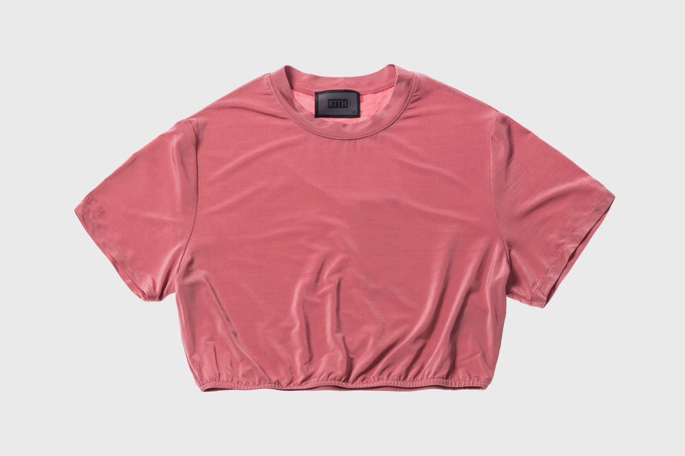 KITH Women Summer 2018 Collection Adele Cropped Tee Dusty Rose