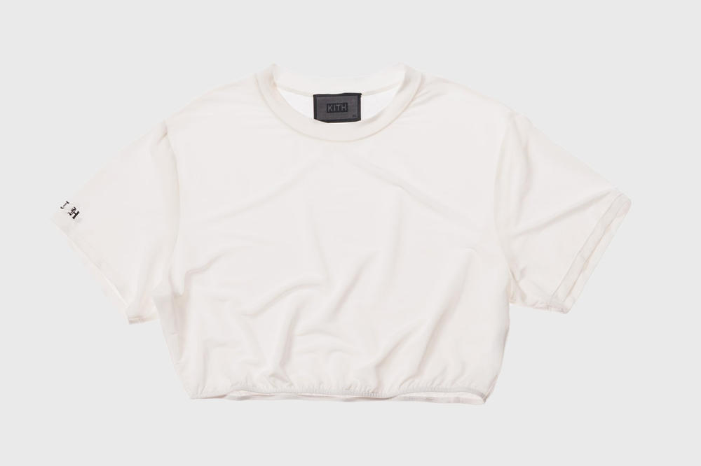 KITH Women Summer 2018 Collection Adele Cropped Tee White
