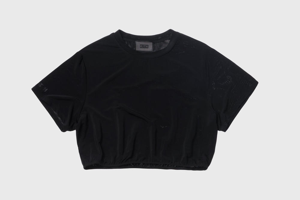 KITH Women Summer 2018 Collection Adele Cropped Tee Black