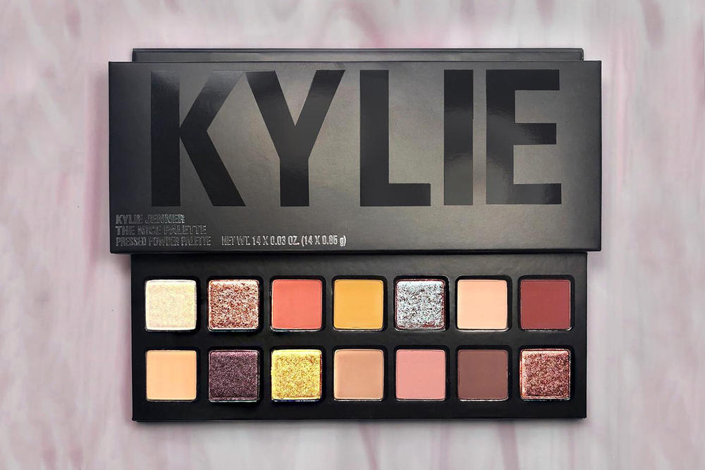 kylie jenner cosmetics nice palette restock holiday 2017 eyeshadow black packaging