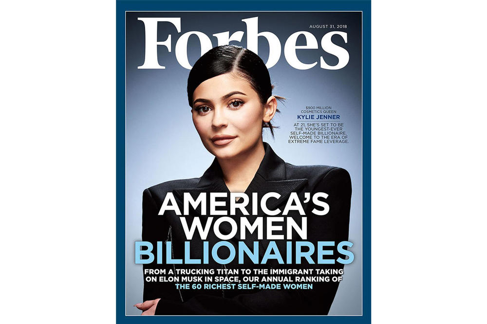 Kylie Jenner Cosmetics Net Worth Income Forbes Magazine Cover Interview August 2018 Billionaire 900 Million USD