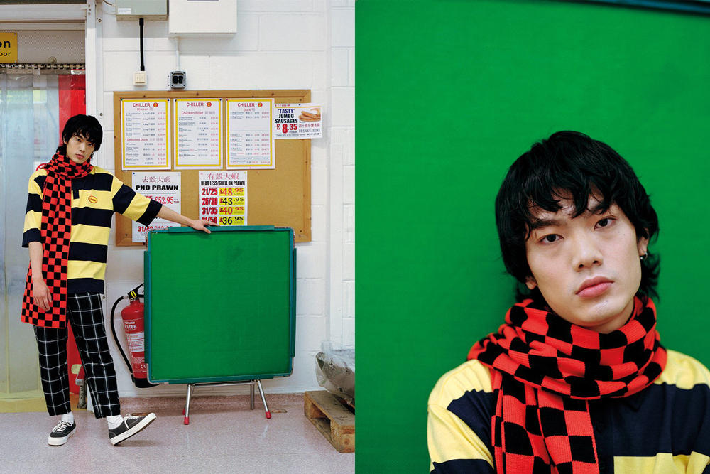 Lazy Oaf Food Baby Fall/Winter 2018 Lookbook Stripey Cheese Polo Shirt Yellow Blue