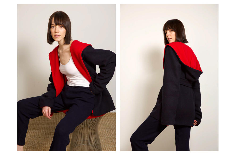 Liana Fall/Winter 2018 Collection Lookbook Lili Jacket Navy Red