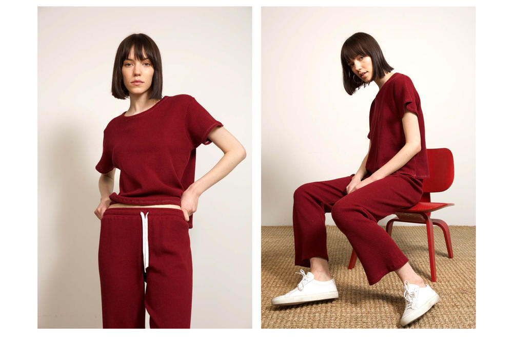 Liana Fall/Winter 2018 Collection Lookbook Thermal Margo Austyn Pant Maroon