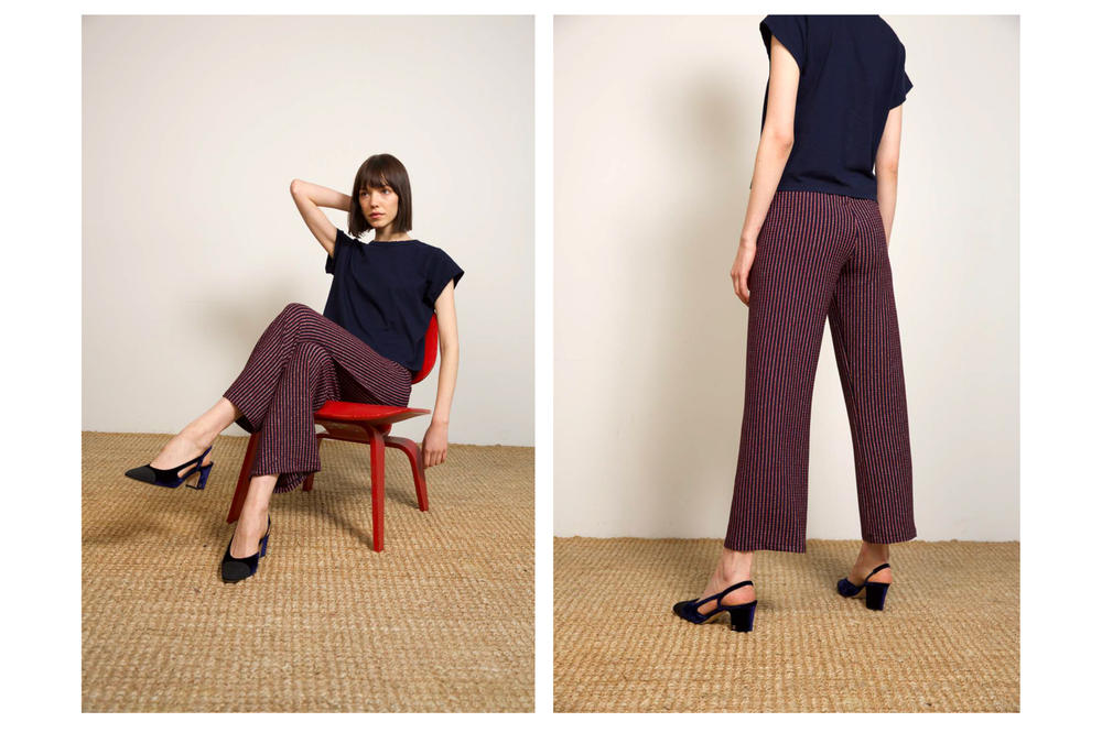 Liana Fall/Winter 2018 Collection Lookbook Alex Pant Navy Maroon