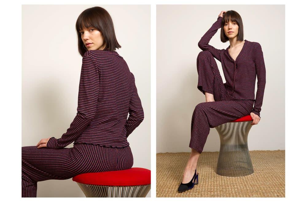 Liana Fall/Winter 2018 Collection Lookbook Audrey Cardigan Alex Pant Maroon