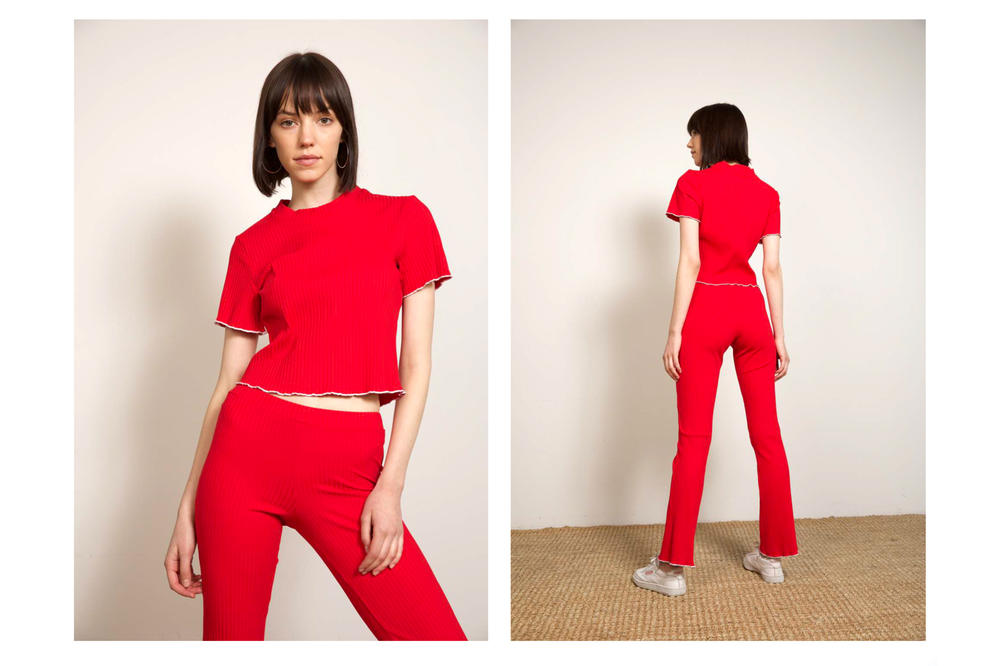 Liana Fall/Winter 2018 Collection Lookbook Riley Tee Ruby Pant Red White