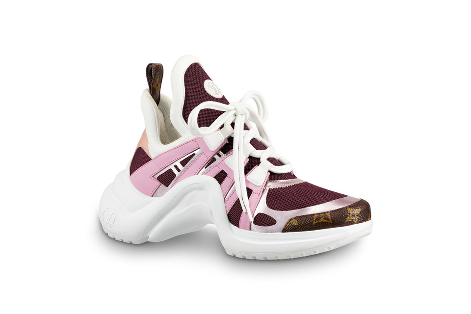 ffa57a6daff1 Louis Vuitton Archlight Sneakers in Pink   Gold