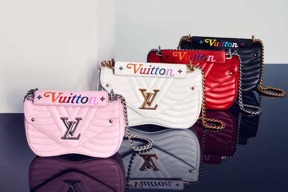 3b52c8a2bdfa Louis Vuitton New Wave Chain Bag Snow White Smoothie Pink Noir Black  Ecarlate Red Malibu Green